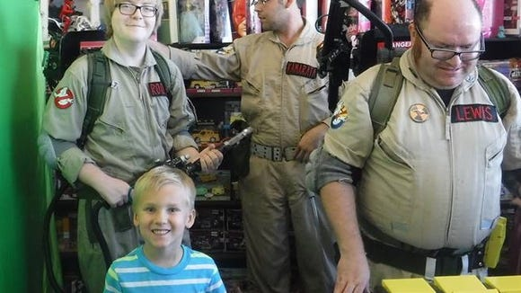 Thomas Yates, 5, of Tempe, meets real-life Ghostbusters after he had a little paranormal problem of his own.