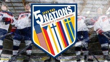 Here is the promotional logo for the 2016 Under-17 Five Nations Tournament, set for Feb. 9-13 at USA Hockey Arena in Plymouth.