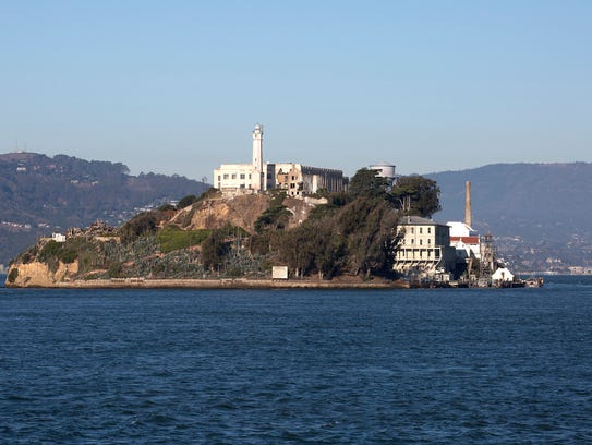 "Alcatraz Island, ""The Rock,"" a former federal penitentiary"