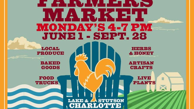 The Charlotte Market is open starting Monday, 4:00 to 7:00 p.m.