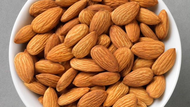 Almonds bring with them flavor, texture and, of course, health benefits.