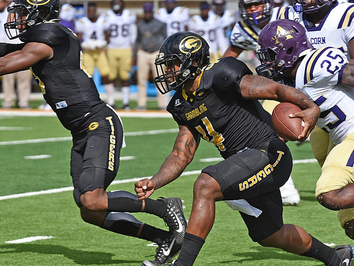 Grambling State senior running back Martez Carter (4)