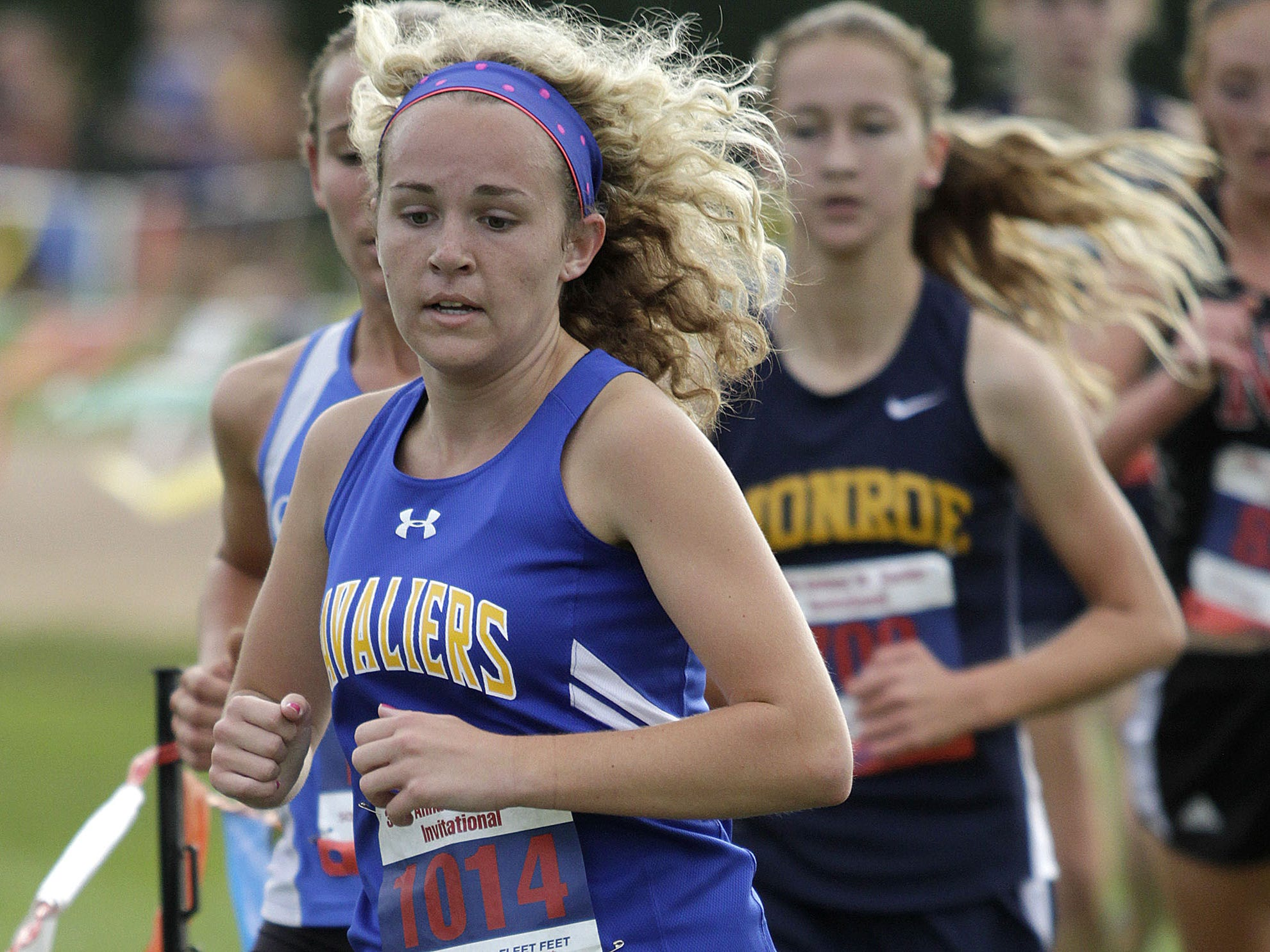 Kansas Greenwell of Purcell Marian will try to turn a successful cross country season into a productive spring on the track for coach Fallon Lane.