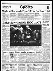 BC Sports History: Week of Oct. 29, 1995