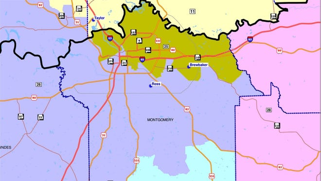 The Alabama Legislative Black Caucus proposed these Senate districts for Montgomery County in a Sept. 25 submission. The U.S. Supreme Court in March said Democratic Sen. Quinton Ross' district -- redrawn in 2012 to become 75 percent black -- raised concerns about racial motives in their composition
