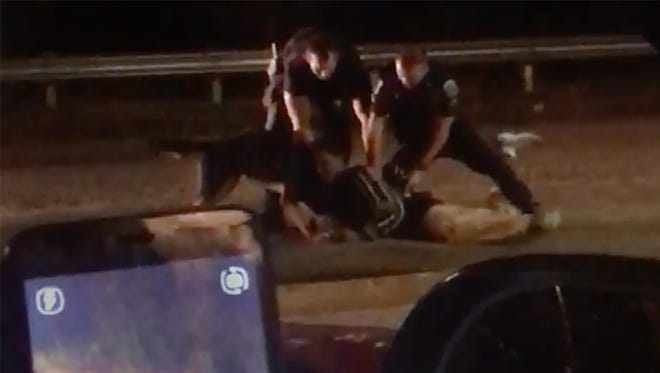Footage of Fort Myers police arresting Bobby Sibert, 21, on Saturday near Sam's Food Market on Ford Street in Fort Myers.