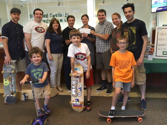 Boiling Springs Savings Bank recently partnered with the Pequannock Skate Park Association and donated $1,000 to help build a park in town.