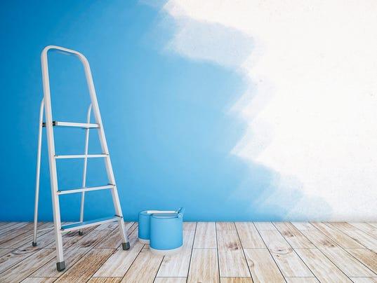 Unfinshed blue room