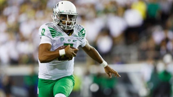 Leading Heisman Trophy candidate Marcus Mariota has