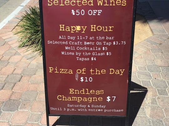Happy Hour and other deals for Alicante in Palm Springs.