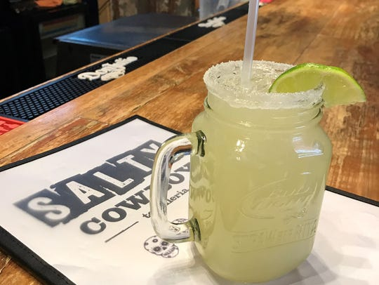 The coconut margarita at Salty Cowboy Tequileria in