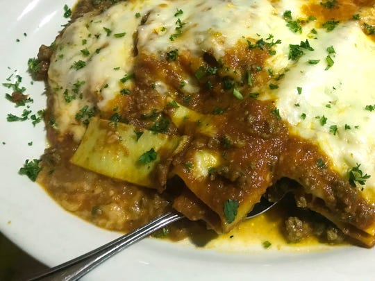 The chef's trio ($19.99) included homemade meat lasagna, cannelloni and manicotti in a Bolognese sauce.
