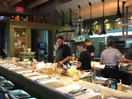 The open kitchen at Mistral in Princeton.