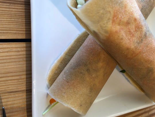 The Turkey Cucumber Wrap comes in a coconut wrap that