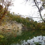 Mead's Quarry at Ijams Nature Center, part of Knoxville's Urban Wilderness, forms a tranquil lake that invites stand-up paddleboarding, kayaking and swimming.