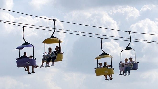 Women who love the Iowa State Fair would probably love a proposal on the Sky Glider.