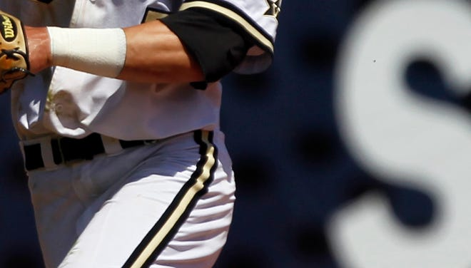 Vanderbilt's Dansby Swanson throws to first against Tennessee during the Southeastern Conference NCAA college baseball tournament on Tuesday, May 20
