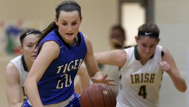 Junior  Danielle Nennig is one of four Wrightstown players averaging double-digit points this season.