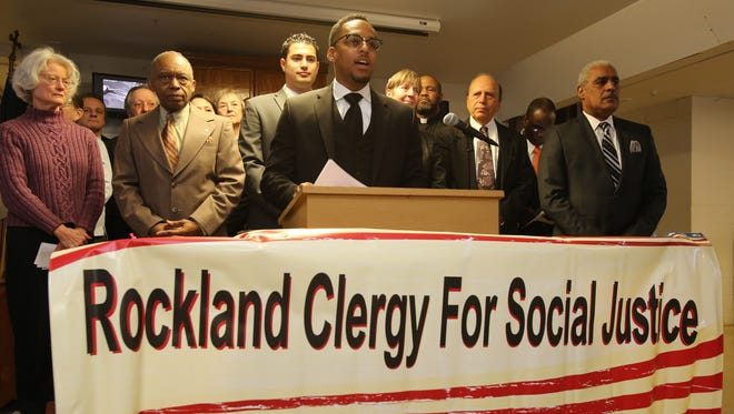 The Rev. Weldon McWilliams speaks during a 2015 meeting of the Rockland Clergy for Social Justice in support of legislative oversight of the East Ramapo School District.