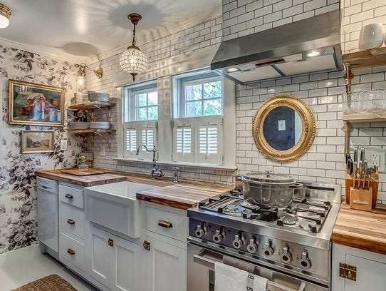 Shown is the kitchen in one of the cottages Holly Williams