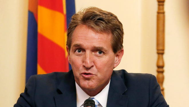 Sen. Jeff Flake, R-Ariz., at a Nov. 23, 2015, field hearing in Phoenix.