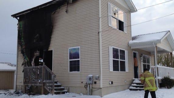 Scene of the fire on Jackson Street.