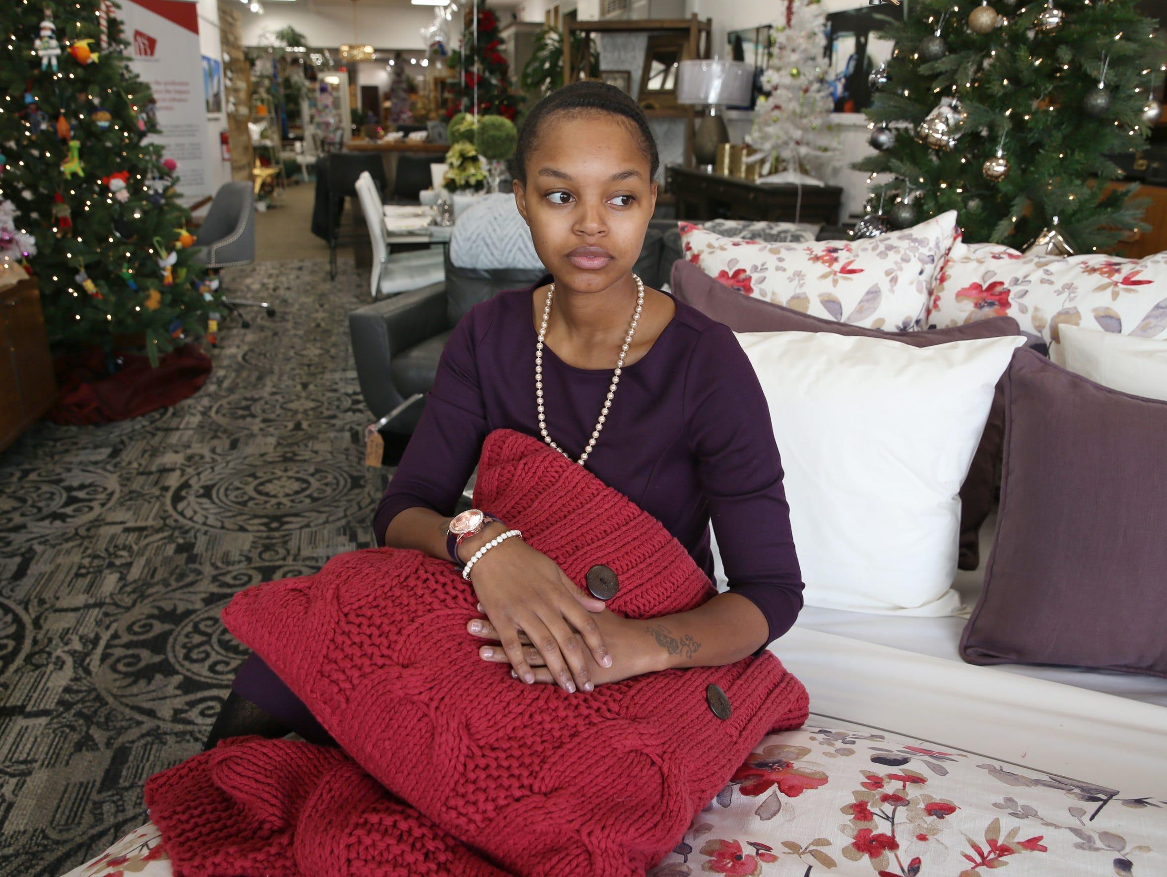 Daijah Barnes at Rochester Design Studio, where she