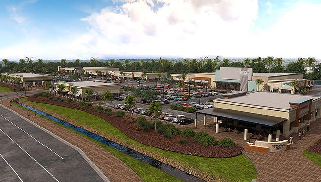 A rendering of Daniels Marketplace in south Fort Myers. The 145,000-square-foot development is home to Lee County's first Whole Foods Market among other tenants.
