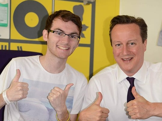 Stephen Sutton with David Cameron