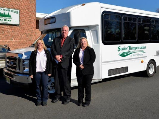 Woodbridge: Mayor John E. McCormac announces new bus transportation service for Woodbridge Township senior residents PHOTO CAPTION