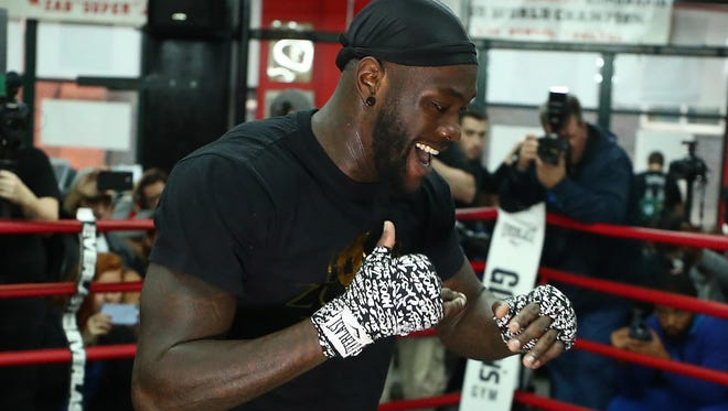 Deontay Wilder works out this week in preparation for his fight Saturday against Bermane Stiverne at Barclays Center in New York.
