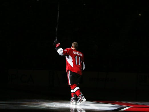 Daniel Alfredsson returned to Ottawa to announce his