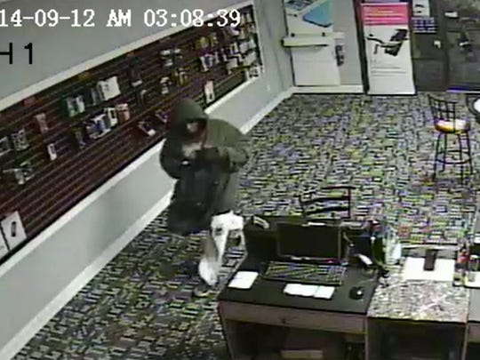 Suspect in a robbery at a Lehigh Verizon store Friday, Sept. 12.