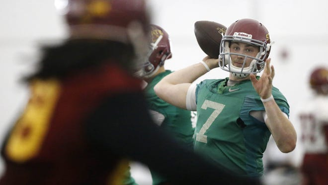 In 11 games last season, Iowa State quarterback Joel Lanning completed 107-of-193 passes and threw for 1,247 yards, 10 touchdowns and four interceptions. He also ran for 330 yards and four touchdowns.