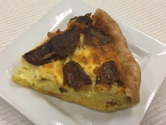 On recent lunch, Dish Café served potato-cheddar-ham as the quiche of the day.