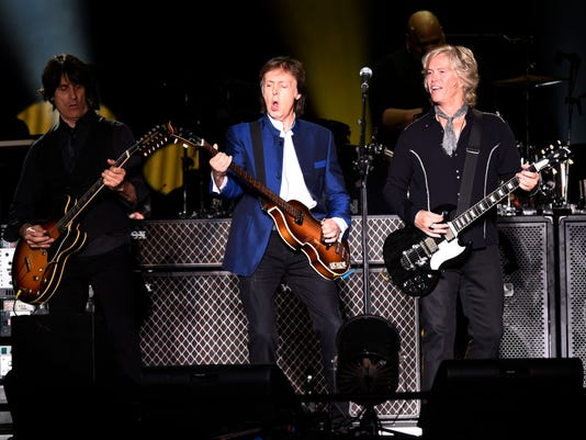 McCartney touring guitarist Brian Ray takes center stage