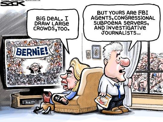 Hillary Clinton's crowds