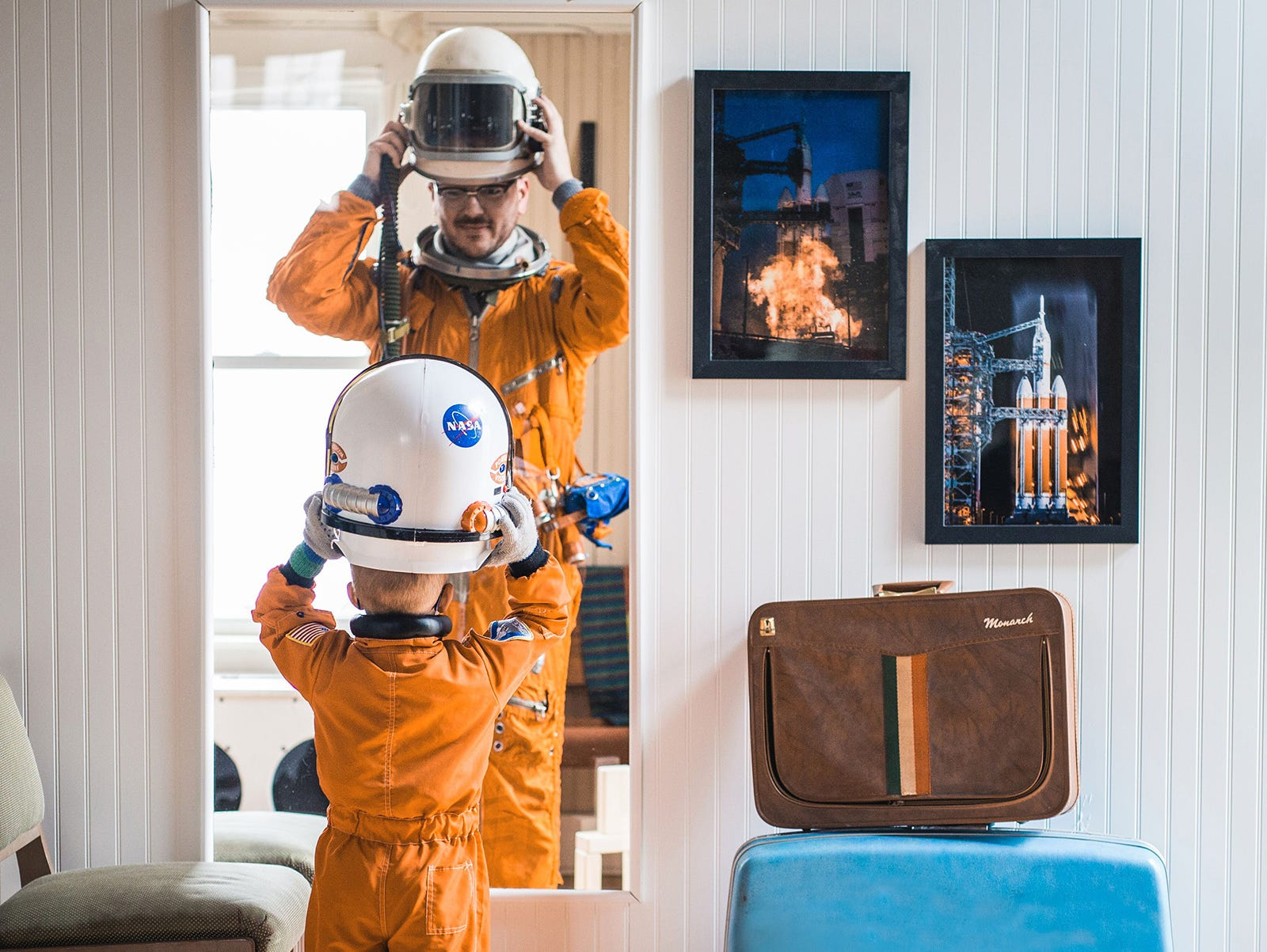 Spacesuit launches remarkable journey for Iowa photographer.