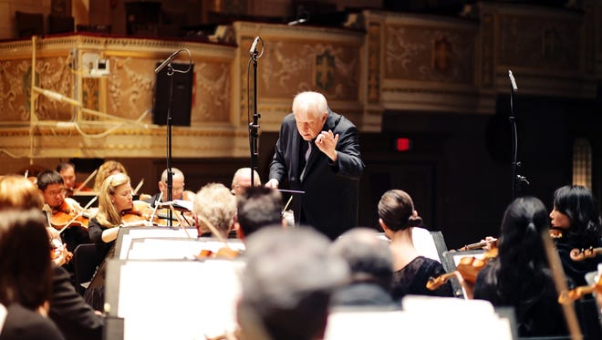 Detroit Symphony Orchestra led by music director Leonard Slatkin
