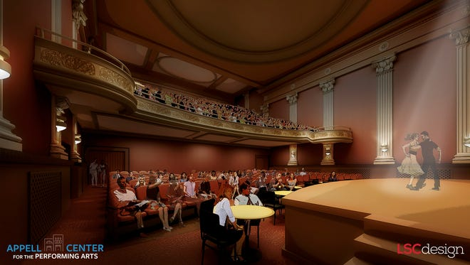 A rendering of the renovated Capitol Theatre in downtown York's The Appell Center for Performing Arts. (Photo courtesy of Appell Center)