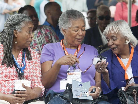 New Orleans CORE members, from left, Jean Denton-Thompson, Doratha Smith-Simmons and Betty Daniel Rosemond.