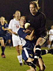 Ashlyn Harris, seen in this February 2004 photo, led Satellite High School to two state titles before playing for North Carolina and ultimately being selected for this summer's Women's World Cup team.