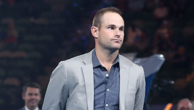 """Andy Roddick said he was """"floored"""" when he learned he would be inducted into the Hall of Fame."""