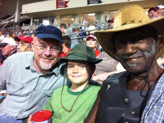 Roger, Nash and Burdie at a Red Sox game a few years ago.