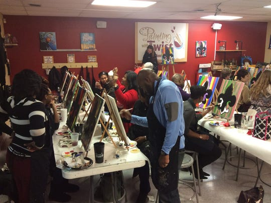 Painting with a Twist hosts Paiting With a Purpose