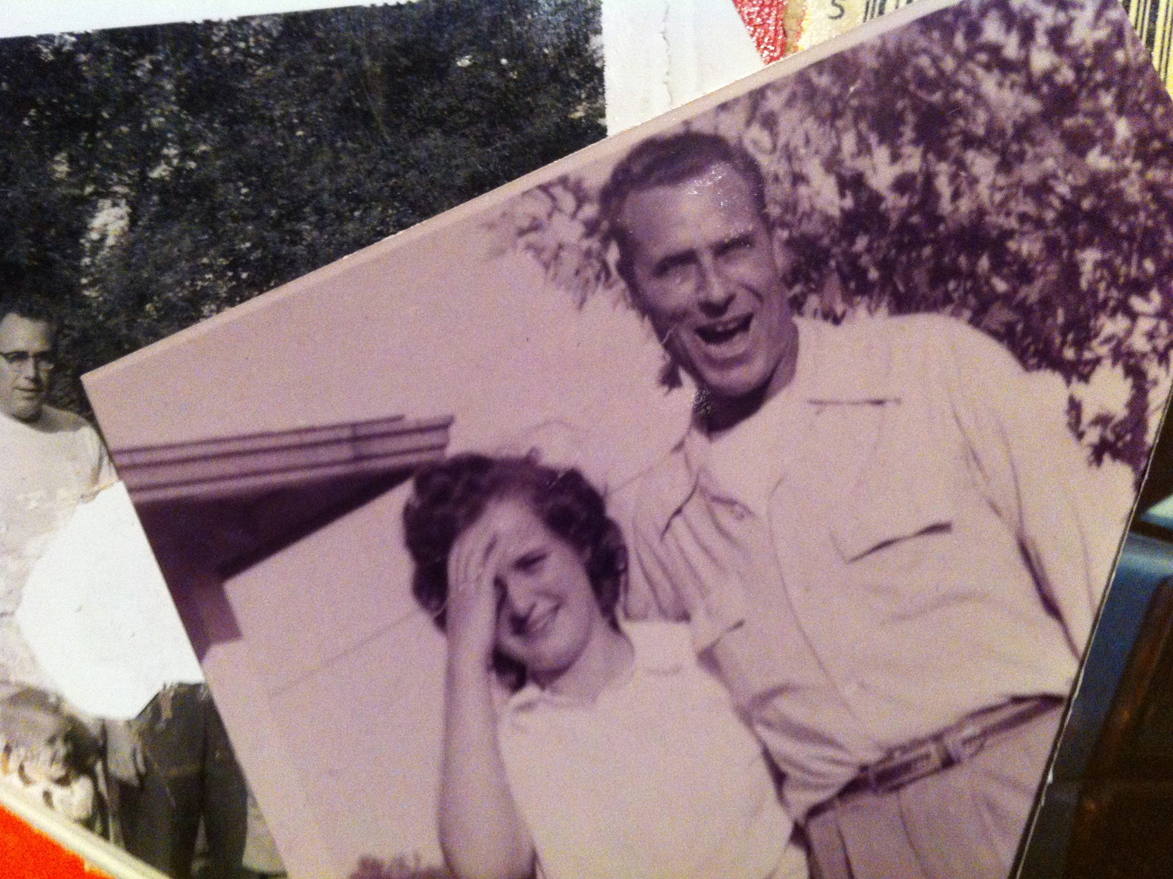 Family photos include a picture of Helen and her late husband, Bob.