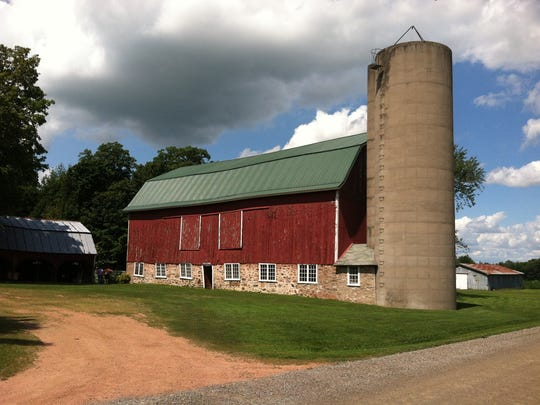 The 91-year-old barn that Gen Bean has made into a wedding and events center in Green Valley near Rozellville.