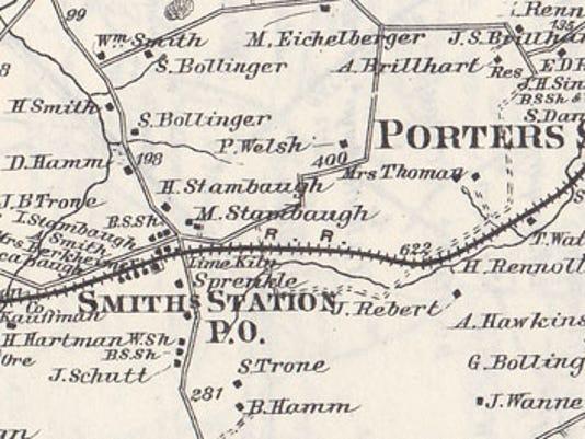 1876 Pomeroy, Whitman Atlas of York County, Pa.