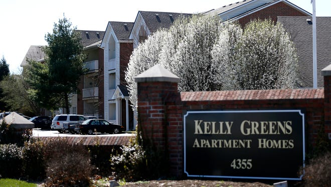 Springfield's Kelly Greens apartments on Thursday, March 2, 2017. Recent studies have pegged Springfield's median one-bedroom apartment rent between $500 and $600 per month. The national median rent for a one-bedroom apartment is just more than $1,000.