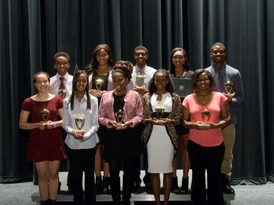 High school winners of the 26th Annual Paul Robeson Youth Achievement Awards.
